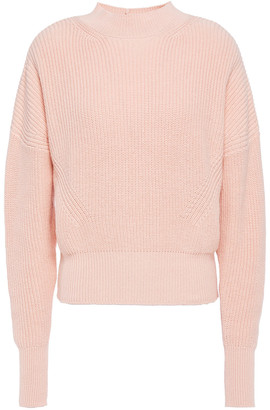 Frame Ribbed Cotton And Cashmere-blend Sweater