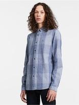 Calvin Klein Jeans Regular Fit Linen Blend Check Shirt