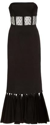Alexis Verbena Cutout Dotted Tulle Midi Dress