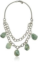 Yochi Druzy Stone Drop Necklace