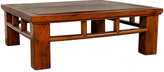 One Kings Lane Vintage Qing Dynasty Style Elm Coffee Table - FEA Home - brown