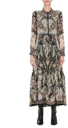 Etro Ruffle Detailed Maxi Dress