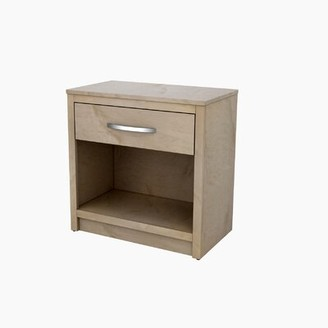 """Akin Vanguard 1 - Drawer Solid Wood Nightstand in Natural Maple Size: 28"""" H x 28"""" W x 16"""" D"""