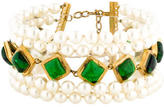 Chanel Gripoix & Pearl Multistrand Necklace
