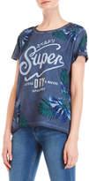 Superdry Cutters Logo Boyfriend Tee