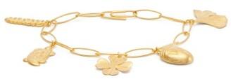 Aurelie Bidermann Aurelie 18kt Gold-plated Charm Bracelet - Gold