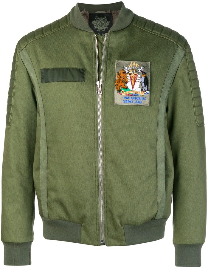 838f714fd fur lined bomber jacket