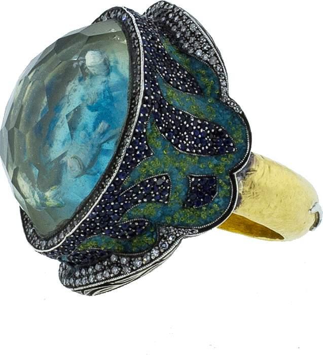 Sevan Biçakci School Of Fish Turquoise Ring