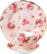"Royal Albert 100 Years 1980 Teacup Saucer & Plate Set - Rose Blush - 8"" - 3 pc"