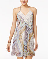 American Rag Printed Crochet Halter Dress, Only at Macy's