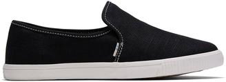 Toms Black Contrast Stitch Clemente Women's Slip-Ons