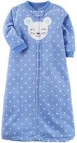 Carter's Baby Girl Animal Polka-Dot Fleece Sleep Bag