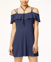 American Rag Juniors' Ruffled Cold-Shoulder Dress, Only at Macy's