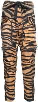 Faith Connexion Animal-print Silk Cargo Trousers