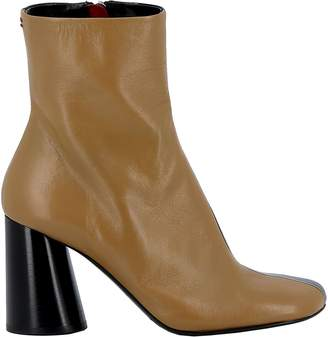 Halmanera Brown/black Leather Ankle Boots