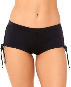 Macy's Salt + Cove Juniors' Lace-Up Boyshorts Swim Bottoms, Created for Women's Swimsuit