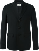 Saint Laurent trim detail jacket - men - Silk/Cotton/Virgin Wool - 48