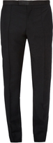 Alexander McQueen Mid-rise wool and mohair-blend trousers