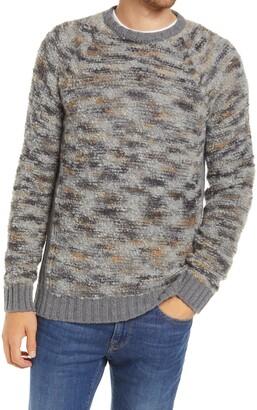 Billy Reid Space Dye Boucle Wool Blend Crewneck Sweater