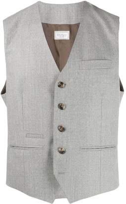 Brunello Cucinelli twill waistcoat