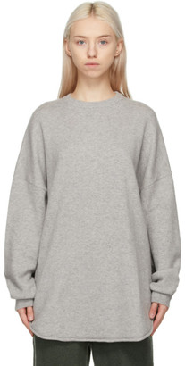 Extreme Cashmere Grey Cashmere N53 Crew Hop Sweater
