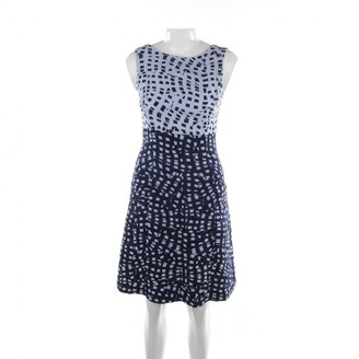 Oscar de la Renta Blue Linen Dresses