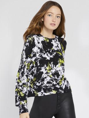 Alice + Olivia Quintin Metallic Printed Pullover