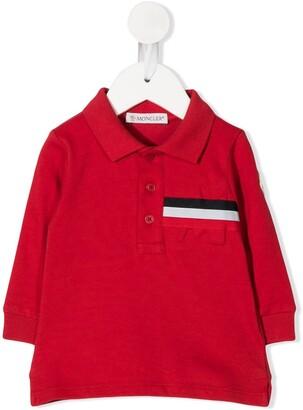 Moncler Enfant Stripe Trim Polo Shirt