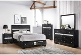Logan Myco Furniture 3 Drawer Nightstand MYCO Furniture Color: Black