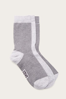 The Frye Company 3 Pack Multi Stripe Sock - Women