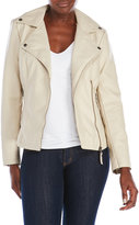 Max Studio Faux Leather Asymmetrical Jacket