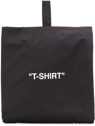 Off-White T-shirt zip-up bag