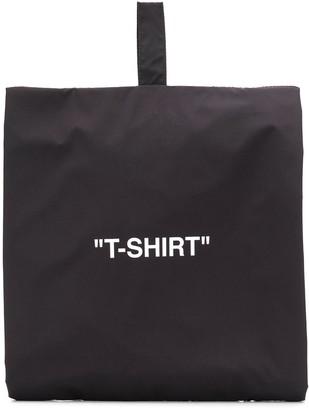 Off-White T-shirt zip-up bag