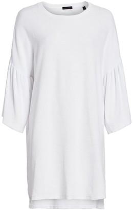 ATM Anthony Thomas Melillo Bell-Sleeve T-Shirt Dress