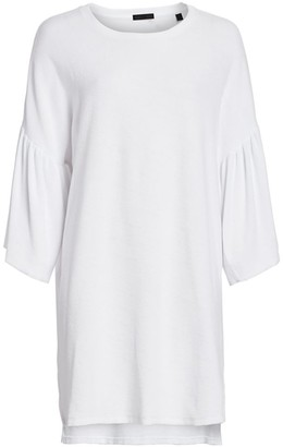 ATM Anthony Thomas Melillo Bell-Sleeve T-Shirt Dress