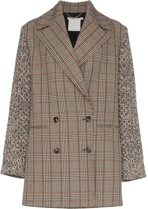 Stella McCartney Double-Breasted Checked Coat