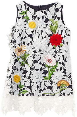 Oscar de la Renta Embroidered Daisy Dress