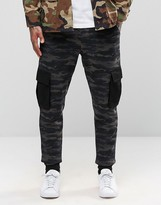 Asos Standard Joggers In Camo With Cargo Styling