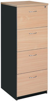 Filing Cabinet with 4 File Drawer Colour: Beech / Iron Grey