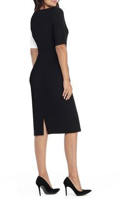 Maggy London Maxene Colorblock Midi Dress