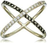 "Judith Jack Classics"" -Tone Sterling Silver Ring with Crystals and Marcasite"