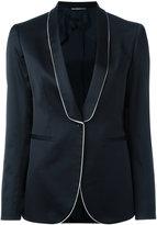 Tonello white trim blazer