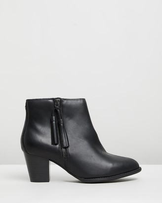 Vionic Women's Black Heeled Boots - Madeline Boots - Size One Size, 8 at The Iconic