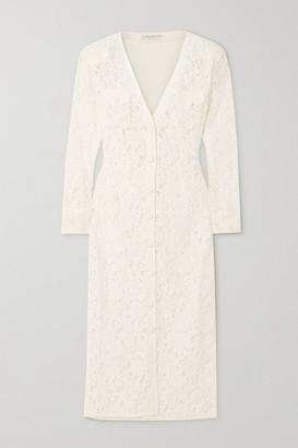 Alessandra Rich Corded Lace Midi Dress - White