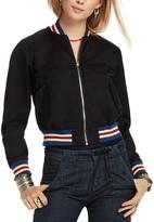 Scotch & Soda Metallic Stripe Trim Bomber Jacket