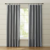 Crate & Barrel Wallace Grey Curtains