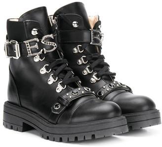 Ermanno Scervino Embellished Combat Boots