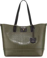 Cole Haan Jozie Croc-Embossed Leather Tote Bag, Black