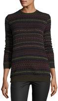 Ralph Lauren Loden Fair Isle Crewneck Cashmere Sweater
