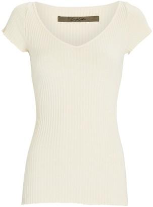 Enza Costa Rib Knit T-Shirt